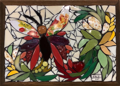 Red Butterfly Mosaic