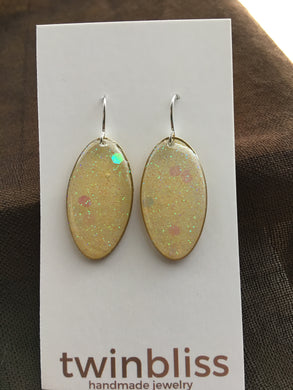 Sparkle & Shine Artisan Earrings - Oval/Yellow