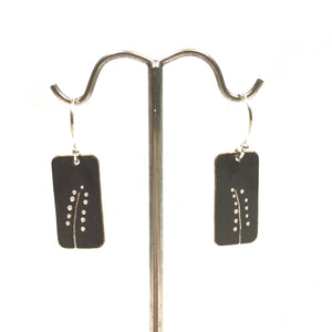 Oxidized Sterling Earrings - Dot Floral