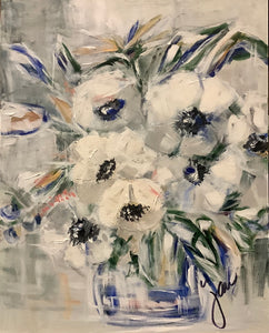 Touches of Blue- Flowers on Ponce series