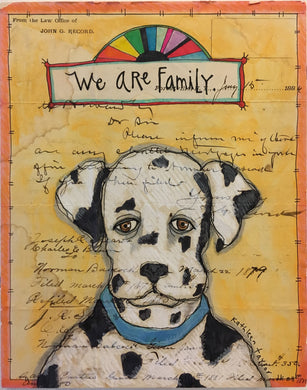 Envelope Art - We Are Family