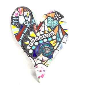 'Courage' - Heart Mosaic