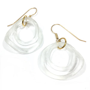 Double Wave Gold Earring