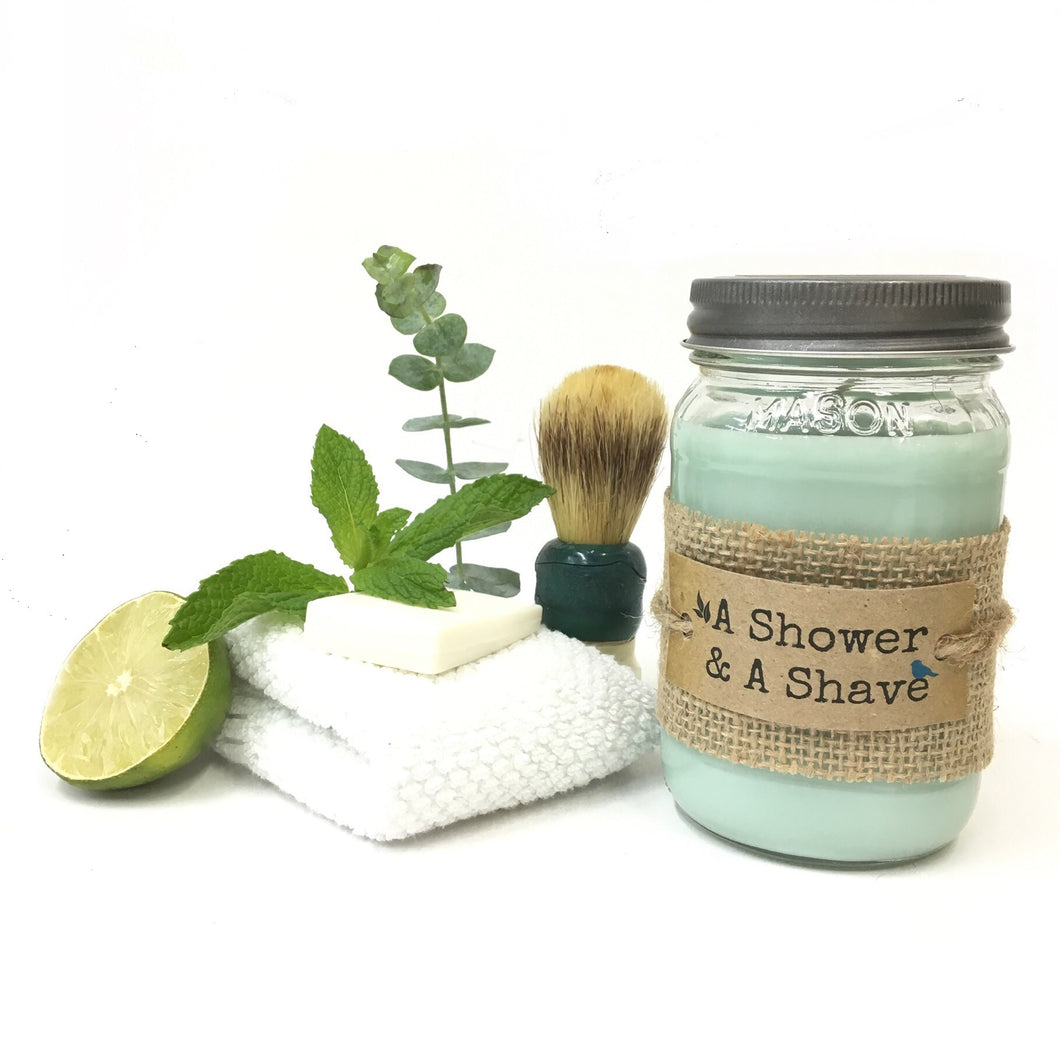 A Shower & A Shave Candle