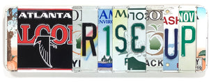 Atlanta Falcons Rise Up License Plate Sign