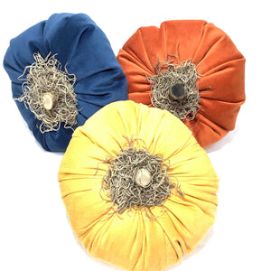 Velvet Fabric Pumpkins