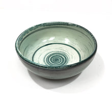 Bowl - green stripes
