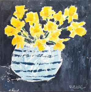Daffodils in a Stripped Vase