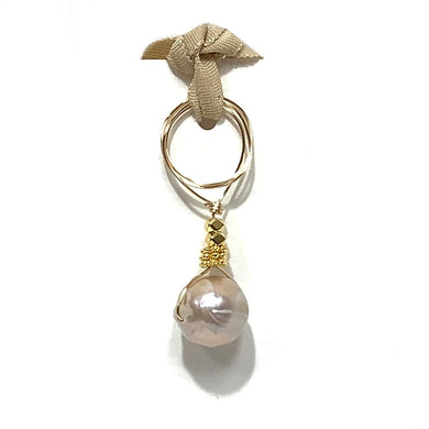 Charm Baroque Pearl with Gold Vermeil