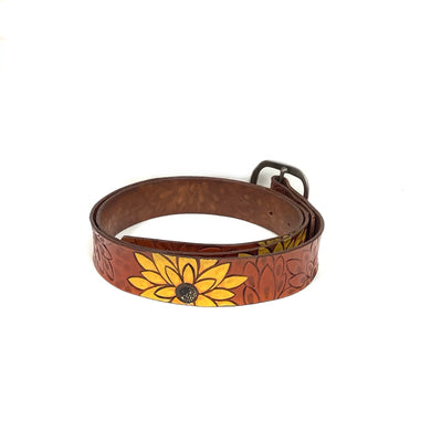 Sunflower Leather Belt