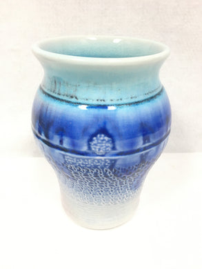 Vase - mauve, blue and aqua
