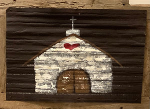 Chapel on 100 year old Tin and old barn wood