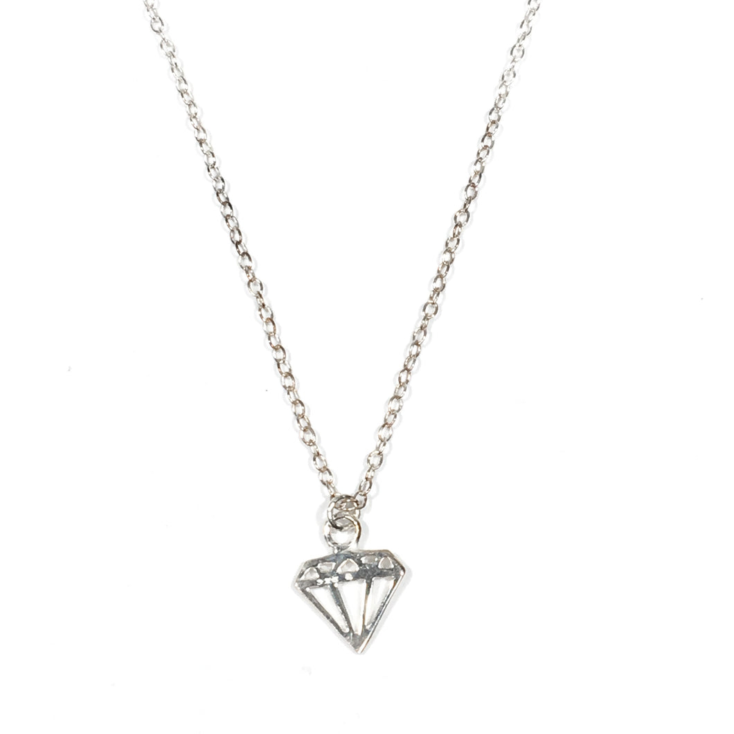 Diamond Necklace - Sterling Silver