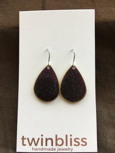 Sparkle & Shine Artisan Earrings - Small Drop/Grape