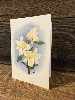 Easter Lily Watercolor Card