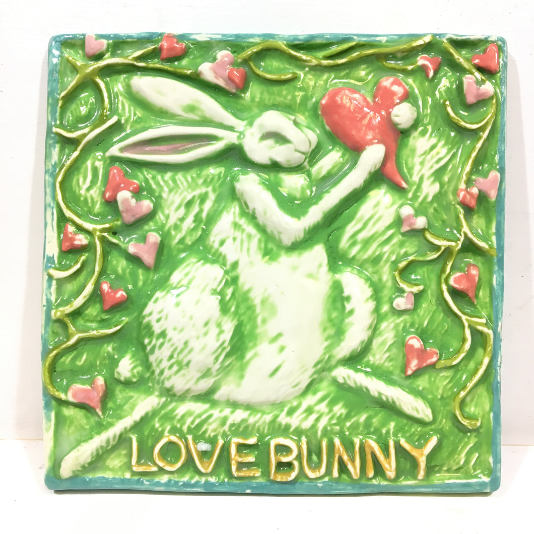 Love Bunny plaque