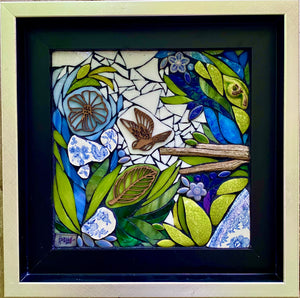 Blue and Green Floral Mosaic