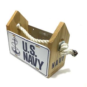 Navy/Maryland License Plate Tool/Drink Box