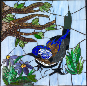 """Bluebird with Branch"" Mosaic"