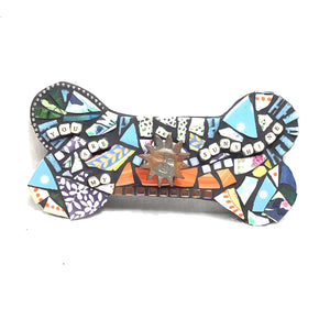 'Sunshine' - Dog Bone Mosaic Leash Hanger