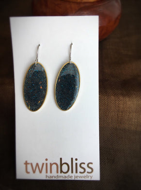 Sparkle & Shine earrings: Oval/Black