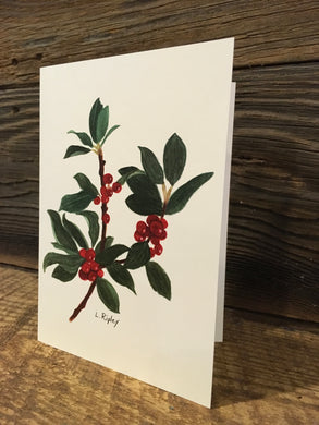 Common Winterberry Watercolor Card