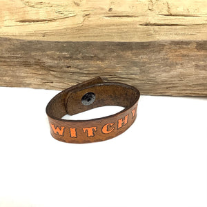 Witchy Leather Bracelet