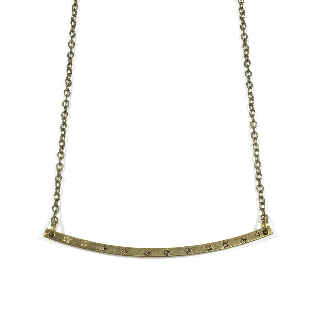 Patterned Bar Necklace