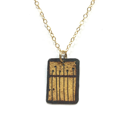 Kumboo Pendant - Oats on 2 Rectangles