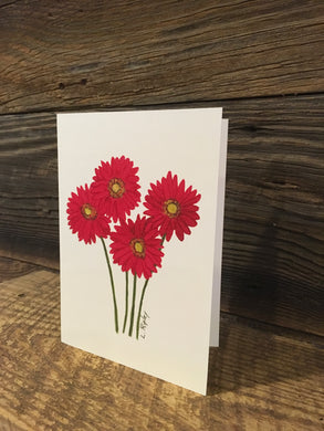 Gerber Daisy Watercolor Card