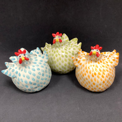 Ceramic Chicken with Spots