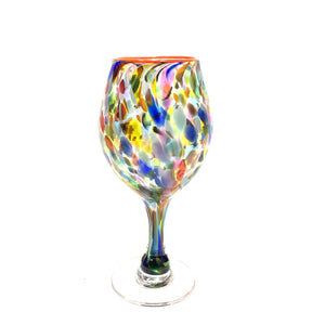 Blown Glass Goblet - Multi Color