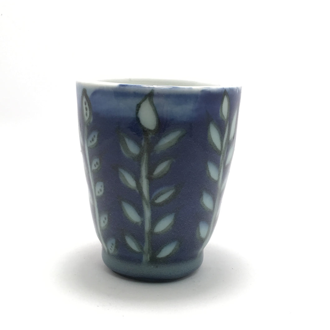 Blue Leaf Cup/Planter