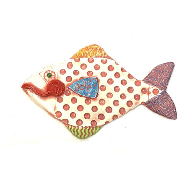 Ceramic Fish - Joy Polka Dot