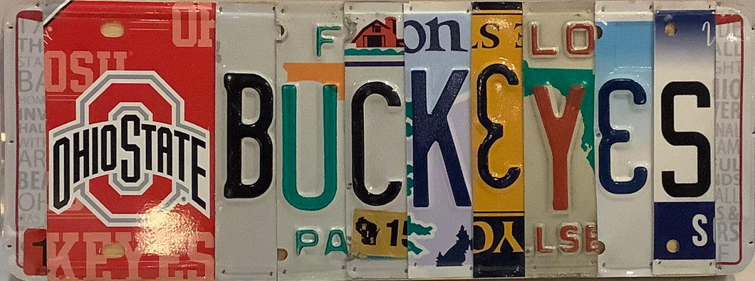 OSU Buckeyes License Plate Sign