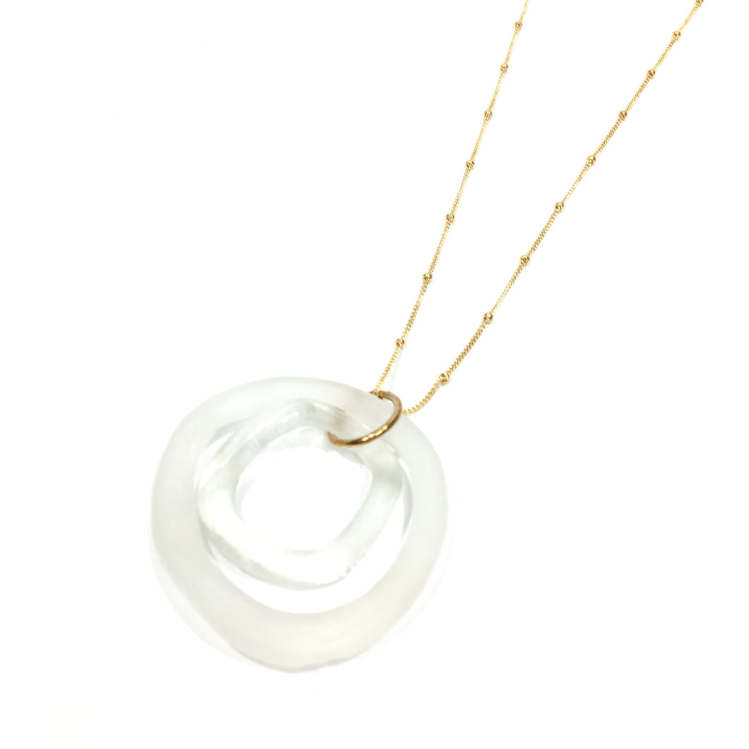 Small Wave 2 Piece Gold Necklace