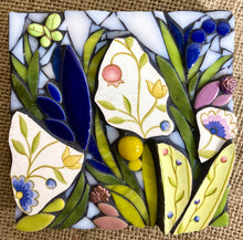 Mini Blue and Yellow Floral Mosaic