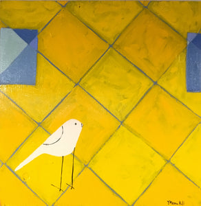 Bird on Yellow Diamonds