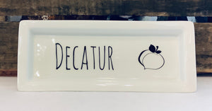 Decatur Peach Rectangle Tray
