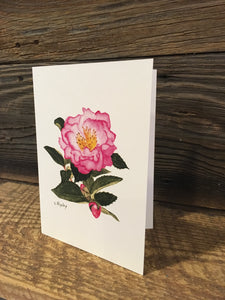 "Camellia Sasanqua ""Inspiration"" Watercolor Card"