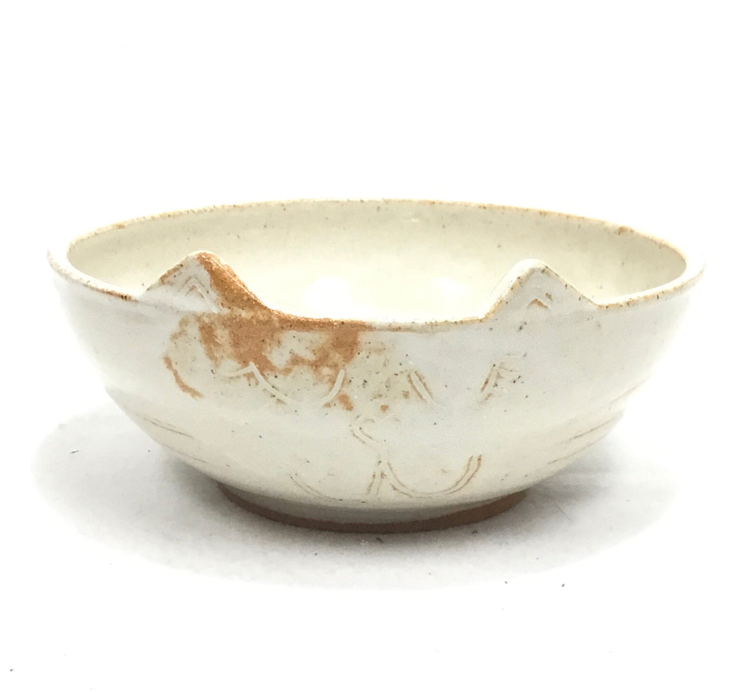 TacoCat Bowl - Medium - Oatmeal/Orange Glaze