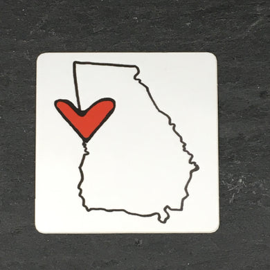 Georgia Heart Sticker