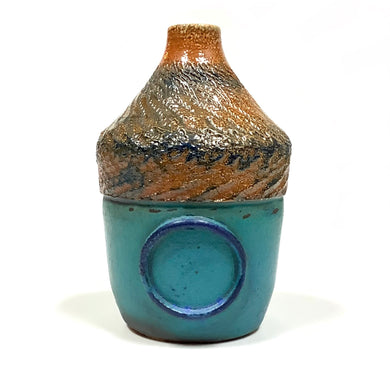 Bottle - Brown and Turquoise
