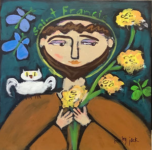 St. Francis and Yellow Flowers