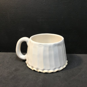 White Angled Ceramic Mugs