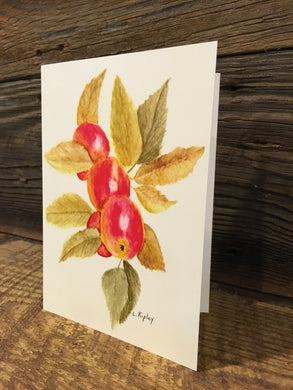 Fall Apples Watercolor Card