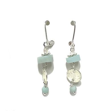 Earrings - Amazonite Beads on sterling wire