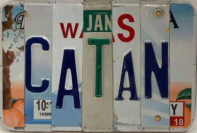 CATAN License Plate Sign