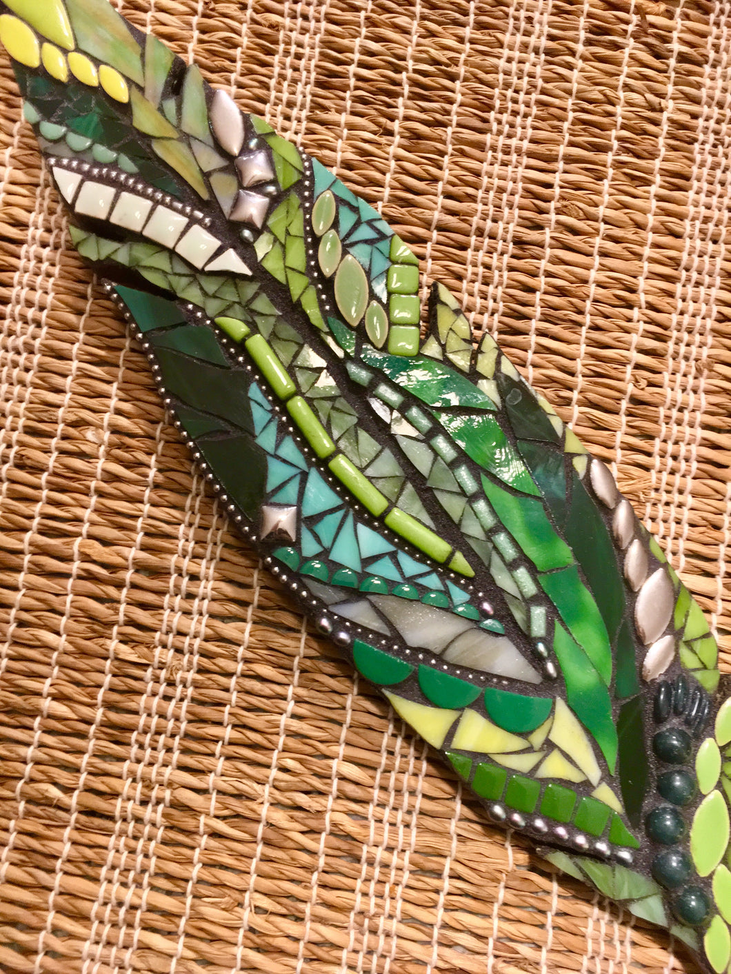 Green Feather Mosaic