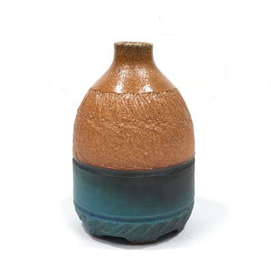 Vase - brown & turquoise